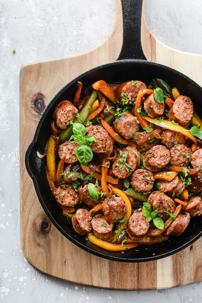 Italian-Sausage-Onions-Peppers-Skillet